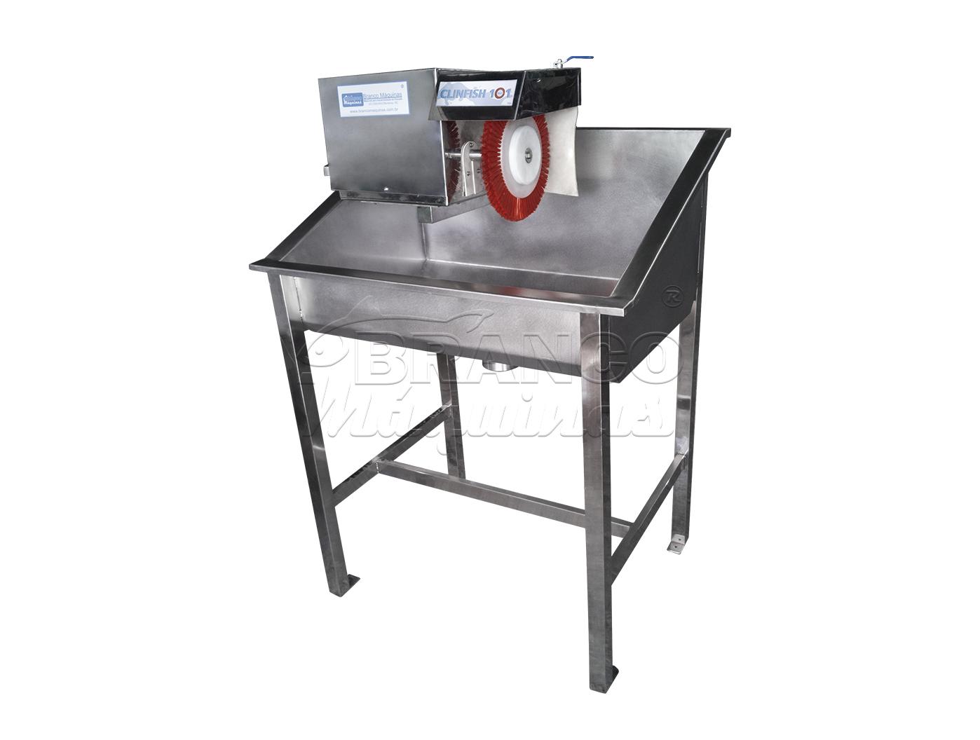 Cocho e Máquina de Escova Rotativa Clinfish 101
